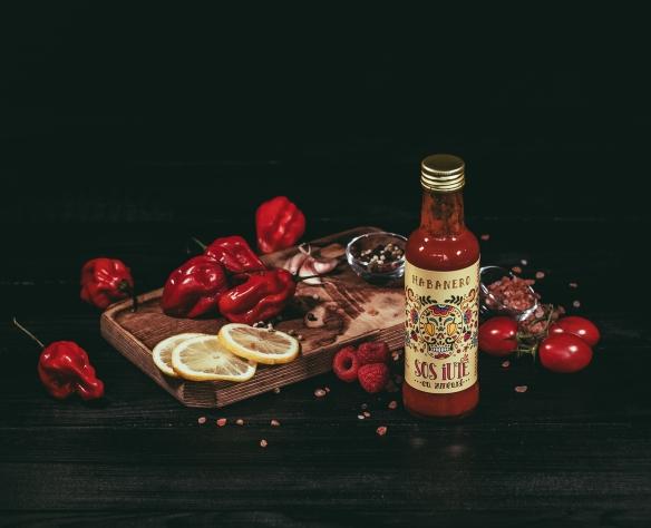 Sos de ardei iute Habanero cu zmeură Fructele Pământului