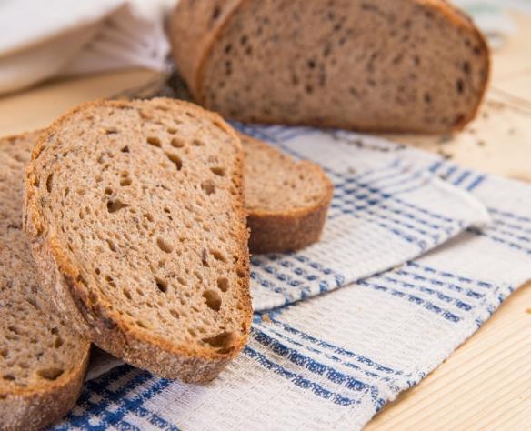 Pâine din făină integrală cu maia