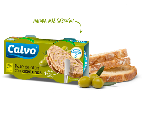 Pate de ton cu măsline verzi Calvo
