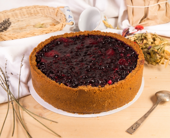 Cheesecake copt cu fructe de pădure Dolci di Fabio