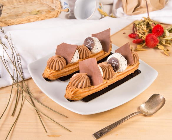Ecler cu ciocolată cu lapte și cremă gianduia Dolci di Fabio